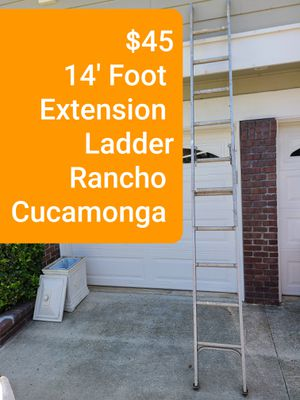 $45 Extension Ladder 7' to 14' Foot LOCATED in RANCHO CUCAMONGA CALIFORNIA NO DELIVERY AVAILABLE for Sale in Alta Loma, CA