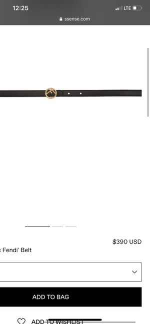 WMNS SKINNY FENDI BELT BRAND NEW SIZE 85 for Sale in Kent, WA