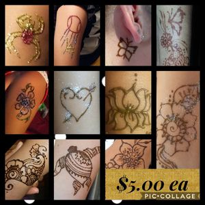 Girls lets go together, only $5.00 small to medium designs 12 min. Henna for Sale in San Diego, CA