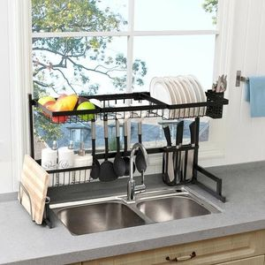 Brand New 2 Tier Stainless Steel Over Sink Dish Rack for Sale in Los Angeles, CA