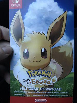 Pokémon let's go eevee for Sale in Bellevue, WA