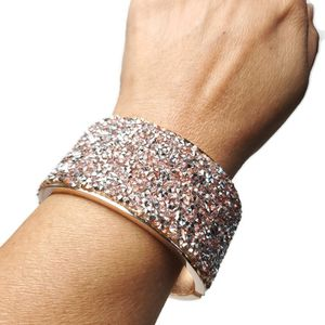 Womens Rose Gold Sparkle Bling Hinged Cuff Bracelet Statement for Sale in Temecula, CA