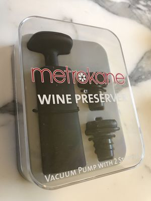 Wine preserver vacuum pump & stopper by MetroKane for Sale in Redmond, WA