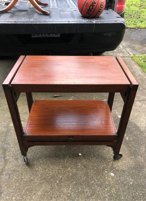 Mid century serving cart bar for Sale in Woodway, WA