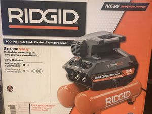 RIDGID QUIET COMPRESSOR for Sale in Bakersfield, CA