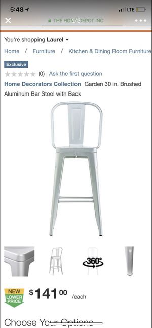 home Decorator Collection garden bar stools brand new for Sale in Laurel, MD