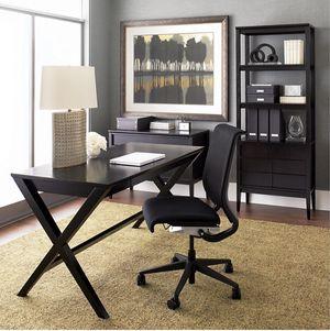 "Crate & Barrel Spotlight Ebony X-Leg Desk 58"" for Sale in Fairfax, VA"