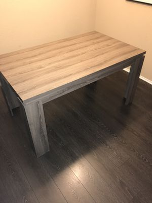 Faux Ash Wood Dining Table for Sale in Phoenix, AZ