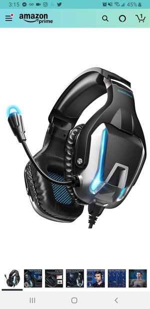 Gaming Headset- PS4 Headset Xbox one Headset Gaming Headphone with Surround Sound, LED Light & Noise Canceling Microphone for Sale in Tustin, CA