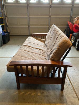 Brown Wood Futon for Sale in Visalia, CA