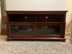 Light Cherry Finish Wood TV Stand / Credenza Shelf for Sale in Issaquah, WA