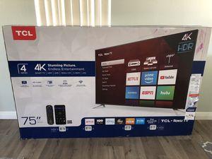 75' TCL Roku Flat Screen TV for Sale in Fontana, CA