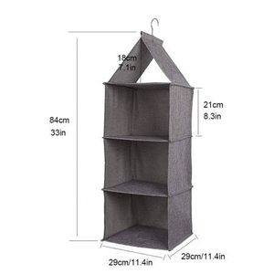 3-Shelf Hanging Closet Organizer Fabric Collapsible with PP Plastic for Sale in Pomona, CA
