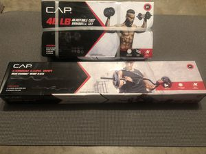 40 lb cast iron dumbbell set with curl bar * BRAND NEW * for Sale in Austin, TX