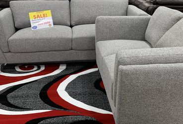 QUITO GRAY FABRIC SOFA AND LOVESEAT SET ON SALE! WE OFFER NO CREDIT NEEDED FINANCING for Sale in Lakeland,  FL