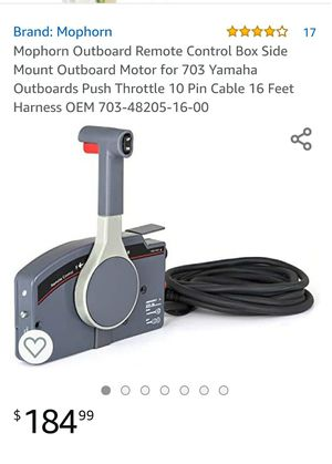 Mophorn Outboard Remote Control Box Side Mount Outboard Motor for 703 Yamaha Outboards Push Throttle 10 Pin Cable 16 Feet Harness OEM 703-4820 for Sale in Rancho Cucamonga, CA