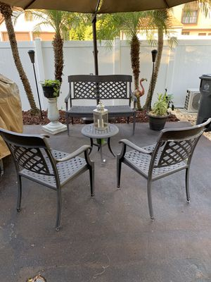 Patio Furniture well constructed all aluminum construction for Sale in Tampa, FL