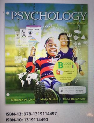 Loose-Leaf Version for Scientific American: Psychology Second Edition for Sale in Payson, AZ