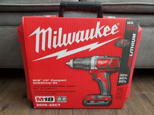 "Milwaukee M18 18-Volt Cordless 1/2"" Drill Driver Kit for Sale in Olathe, KS"