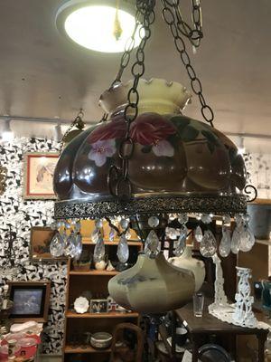Bohemian boho vintage antique hurricane lamp light chandelier for Sale in San Diego, CA