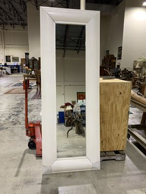 New White Wood Frame Tall Mirror 80 in. X 32 in. for Sale in West Palm Beach, FL