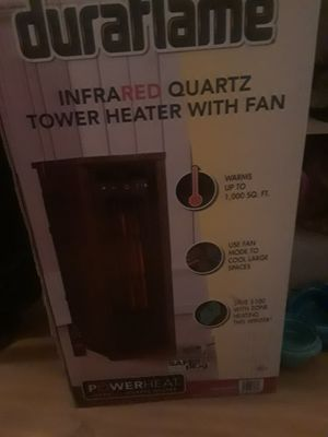 Duraflame Infrared Quartz Tower Heater with Fan for Sale in Gresham, OR