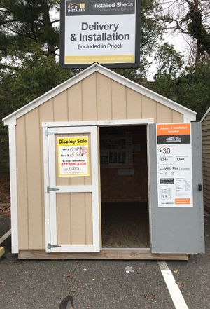 8x10 Value Plus Shed at Home Depot Valley Stream NY 11580 Markdown price $1558 for Sale in Valley Stream, NY