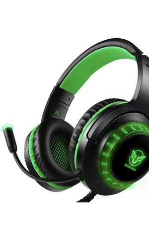 Pacrate Gaming Headset with Microphone for PS4 PC Xbox One Headset Stereo Surround Sound Intense Bass Headphone with LED Light Noice Cancelling for C for Sale in Burke, VA