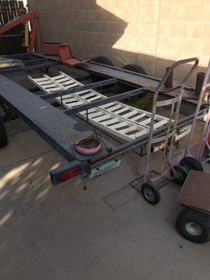 Car trailer for sale heavy duty axles to newer tires to go with it for Sale in Phoenix, AZ