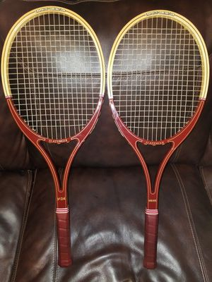 2 Slazenger Guillermo Vilas V-24 graphite lamination wood Tennis Rackets for Sale in Columbus, OH