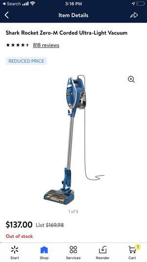 Shark Rocket Zero-M Corded Ultra-Light Vacuum for Sale in Bakersfield, CA