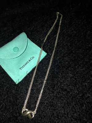 New Tiffany &co. Infinity Double chain necklace for Sale in Moonachie, NJ