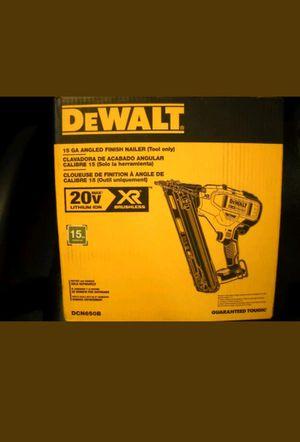 Dewalt DCN650B 20V MAX XR 15 GA Cordless Angled Finish Nailer Trim Gun for Sale in Durham, NC