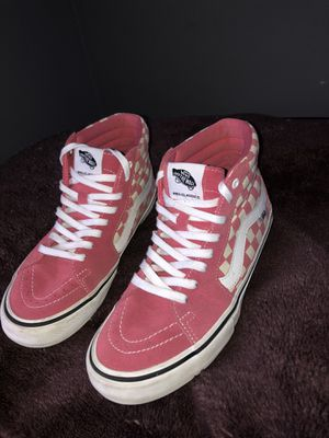 Pink high top checkered vans for Sale in Richmond, CA