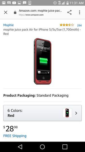 Mophie juice pack air iPhone 5 for Sale in Petersburg, VA