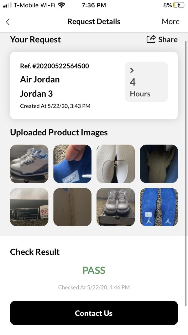 Jordan 3 true blue '2009' (check description)