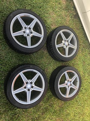 Mercedes benz amg rims wheels like new factory amg for Sale in Miami, FL