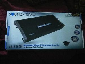 Sound Stream 8k Watt Mono Amplifier for Sale in Harvey, IL