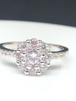 Sterling Silver CZ Flower Ring for Sale in Shelton,  CT
