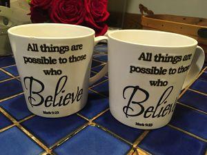 Matching coffee mugs & stock pot for Sale in Fairfax, VA