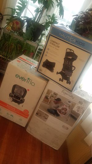 baby bundle set car seat , carriage and baby swing brand new(*** no negotiating on price for Sale in The Bronx, NY