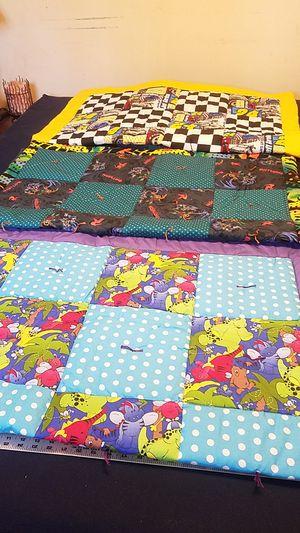 50x42 inch baby quilt lap quilt 3 to choice from for Sale in Sycamore, IL