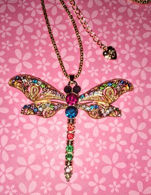Betsey Johnson Crystal be Dragonfly Necklace for Sale in Wichita, KS