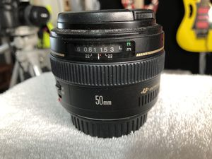 Canon Ulrasonic EF 50 mm 1:1.4 Mint Conditions for Sale in Las Vegas, NV