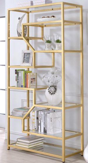 New!! 10 Shelf Bookcase,Organizer,Decor Shelving,Furniture,Glass & Metal Bookcase for Sale in Phoenix, AZ