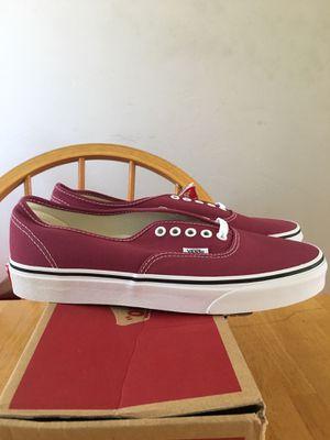 Brand new vans authentic skate skateboard shoes dry rose men's size 9, 10 for Sale in La Mesa, CA