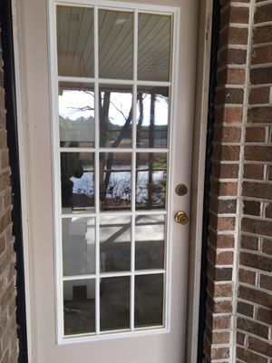 "Exterior door used in screened porch , 32"" width x 79"" height/ frame width is 33 5/8"" width x 81 5/8"" height for Sale in Suffolk, VA"