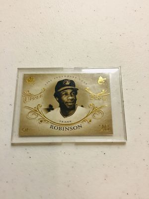 Frank Robinson baseball card in a thick project case for Sale in Baltimore, MD