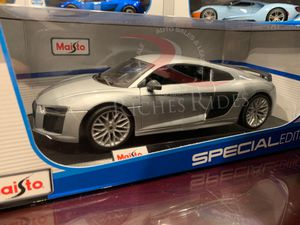 Maisto 1:18 Scale Special Edition Diecast Model Audi R8 V10 Plus (Silver) for Sale for sale  Porter Ranch, CA