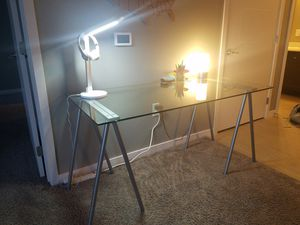 Glass office desk for Sale in Sioux Falls, SD